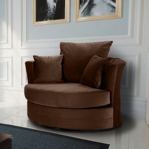Velvet Brown Chelsea Cuddle Chair