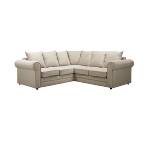 Fabric Silver Grey 2c2 Charlotte Corner Sofa With Scatter Cushions