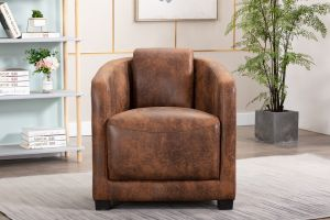Leather Air Brown Aviator Tub Chair