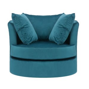 Velvet Teal Amy Cuddle Chair