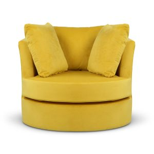 Velvet Gold Amy Cuddle Chair