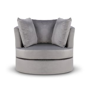 Velvet Grey Amy Cuddle Chair