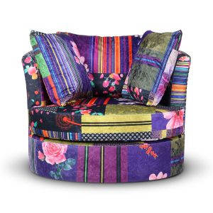 Fabric Anna Patchwork Amy Cuddle Chair