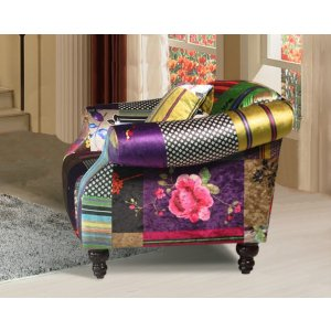Fabric Patchwork 1 Seater Avici Shout Sofa