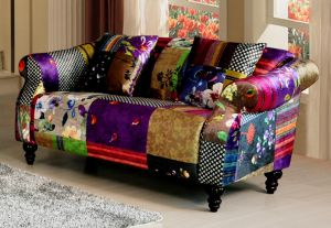 Fabric Patchwork 2 Seater Avici Shout Sofa
