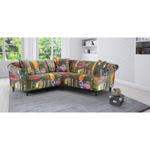 Fabric Green Patchwork 2c2 Seater Avici Shout Sofa