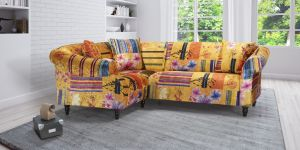 Fabric Gold Patchwork 1c2 Seater Avici Shout Sofa