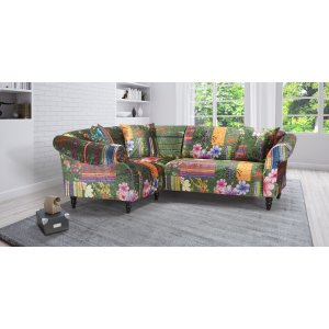 Fabric Green Patchwork 1c2 Seater Avici Shout Sofa
