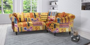 Fabric Gold Patchwork 2c1 Seater Avici Shout Sofa