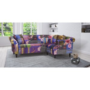 Fabric Patchwork 2c1 Seater Avici Shout Sofa