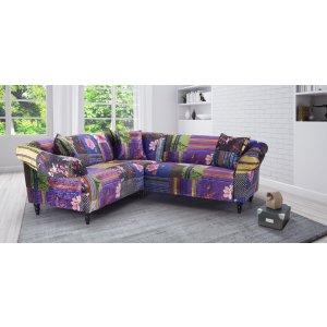 Fabric Patchwork 2c2 Seater Avici Shout Sofa