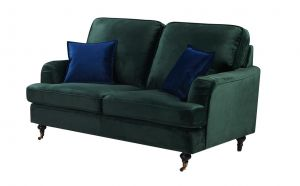 Velvet Bottle Green 2 Seater Astbury Bella Sofa
