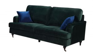 Velvet Bottle Green 3 Seater Astbury Bella Sofa