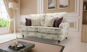 Floral Fabric Purple 2 Seater Astbury Bella Sofa