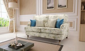 Floral Fabric Teal 2 Seater Astbury Bella Sofa