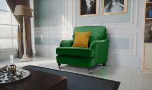Velvet Emerald Green 1 Seater Astbury Bella Sofa