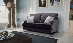 Velvet Dark Grey 2 Seater Astbury Bella Sofa