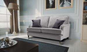Velvet Grey 2 Seater Astbury Bella Sofa