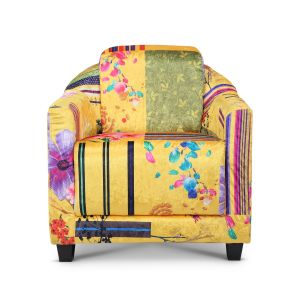 Fabric Gold Patchwork Aviator Tub Chair