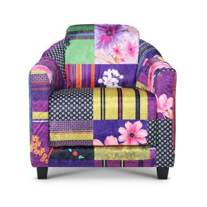 Fabric Patchwork Aviator Tub Chair
