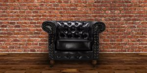 Leather Chesterfield Black 1 Seater Belmont Sofa