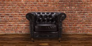 Faux Leather Chesterfield Brown 1 Seater Belmont Sofa