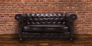 Faux Leather Chesterfield Brown 2 Seater Belmont Sofa