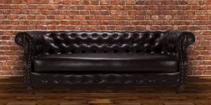 Faux Leather Chesterfield Brown 3 Seater Belmont Sofa