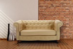 Leather Chesterfield Cream 2 Seater Belmont Sofa