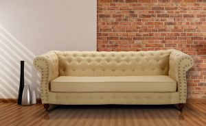 Leather Chesterfield Cream 3 Seater Belmont Sofa