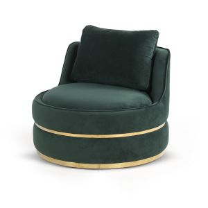Velvet Bottle Green Bria Cuddle Chair