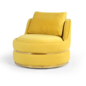 Velvet Gold Bria Cuddle Chair