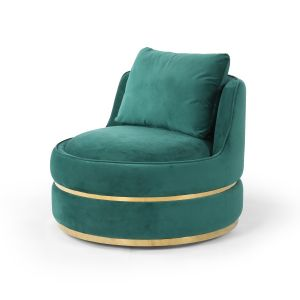 Velvet Emerald Green Bria Cuddle Chair