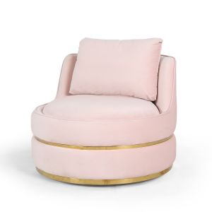 Velvet Pink Bria Cuddle Chair