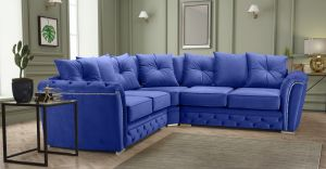 Velvet Blue 2c2 Buckingham Corner Sofa