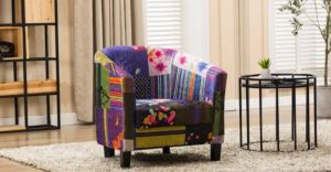 Fabric Patchwork Tub Chair