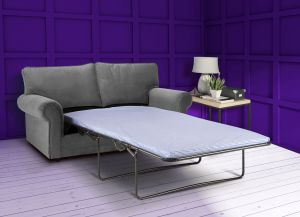 Velvet Grey 3 Seater Charlotte Sofa Bed With High Back
