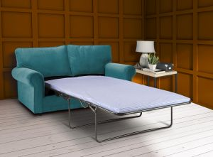 Velvet Turquoise / Teal 3 Seater Charlotte Sofa Bed With High Back