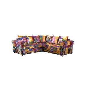 Fabric Patchwork 2c2 Seater Charlotte Sofa with Scatter Cushions