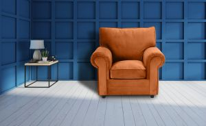 Velvet Orange Armchair Charlotte