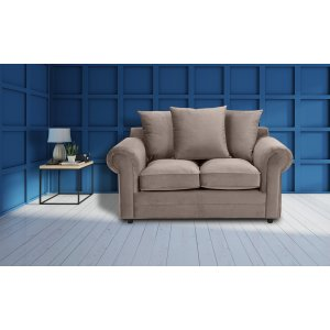 Velvet Mink 2 Seater Charlotte Sofa With Scatter Cushions