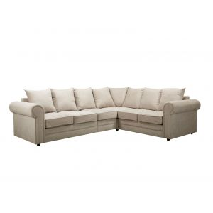 Fabric Silver Grey 3c2 Charlotte Corner Sofa With Scatter Cushions