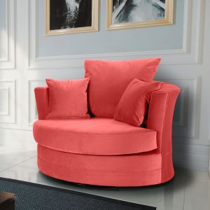 Velvet Coral Chelsea Cuddle Chair