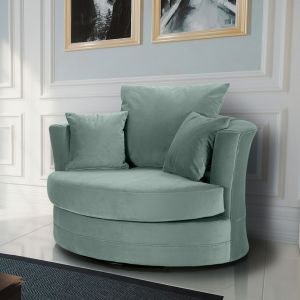Velvet Duck Egg Green Chelsea Cuddle Chair