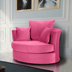 Velvet Fuchsia Pink Chelsea Cuddle Chair