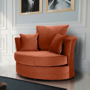Velvet Sunset Orange Chelsea Cuddle Chair