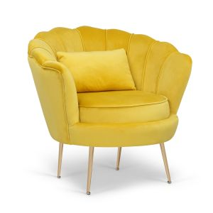 Velvet Gold 1 Seater Daisy Sofa