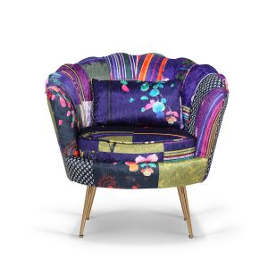 Fabric Patchwork 1 Seater Daisy Sofa