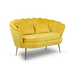 Velvet Gold 2 Seater Daisy Sofa