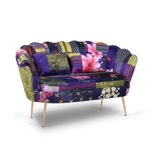Fabric Patchwork 2 Seater Daisy Sofa